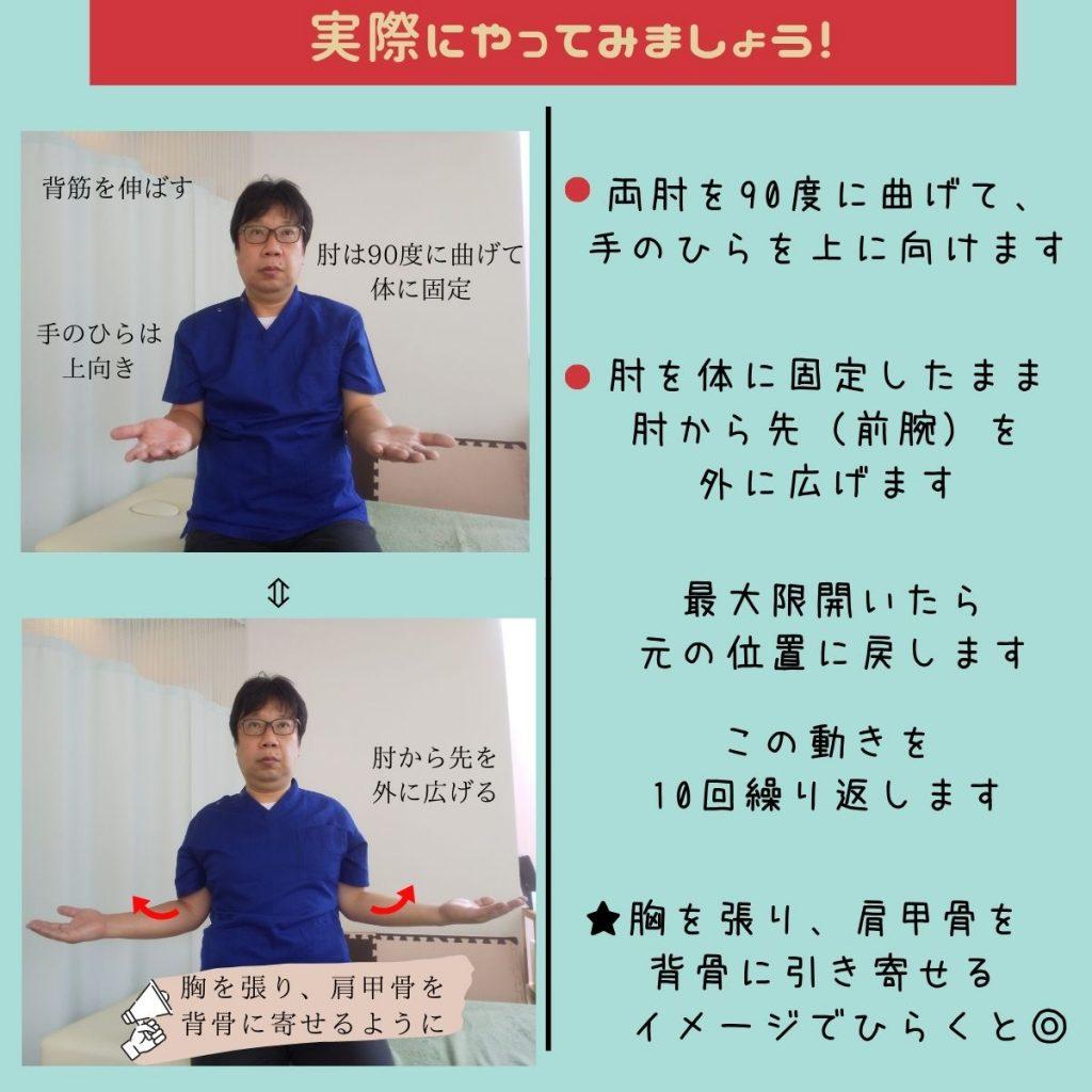 猫背・巻き肩改善の第1歩。肩甲骨体操③
