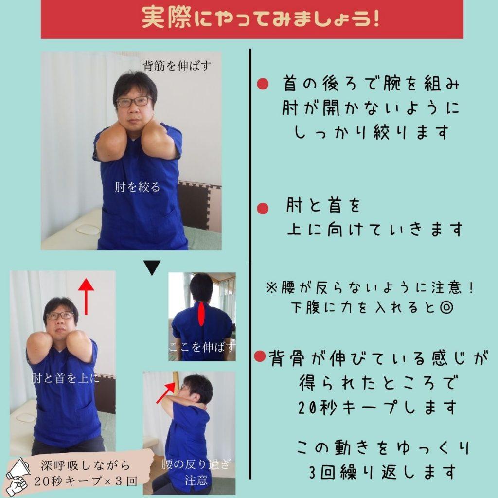 猫背・巻き肩改善の第1歩。肩甲骨体操②